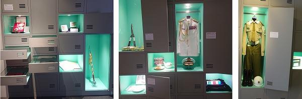 台湾総統府内の展示