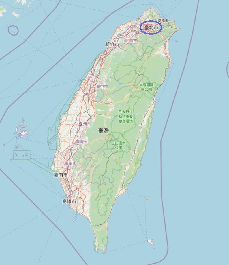 台湾マップin台北